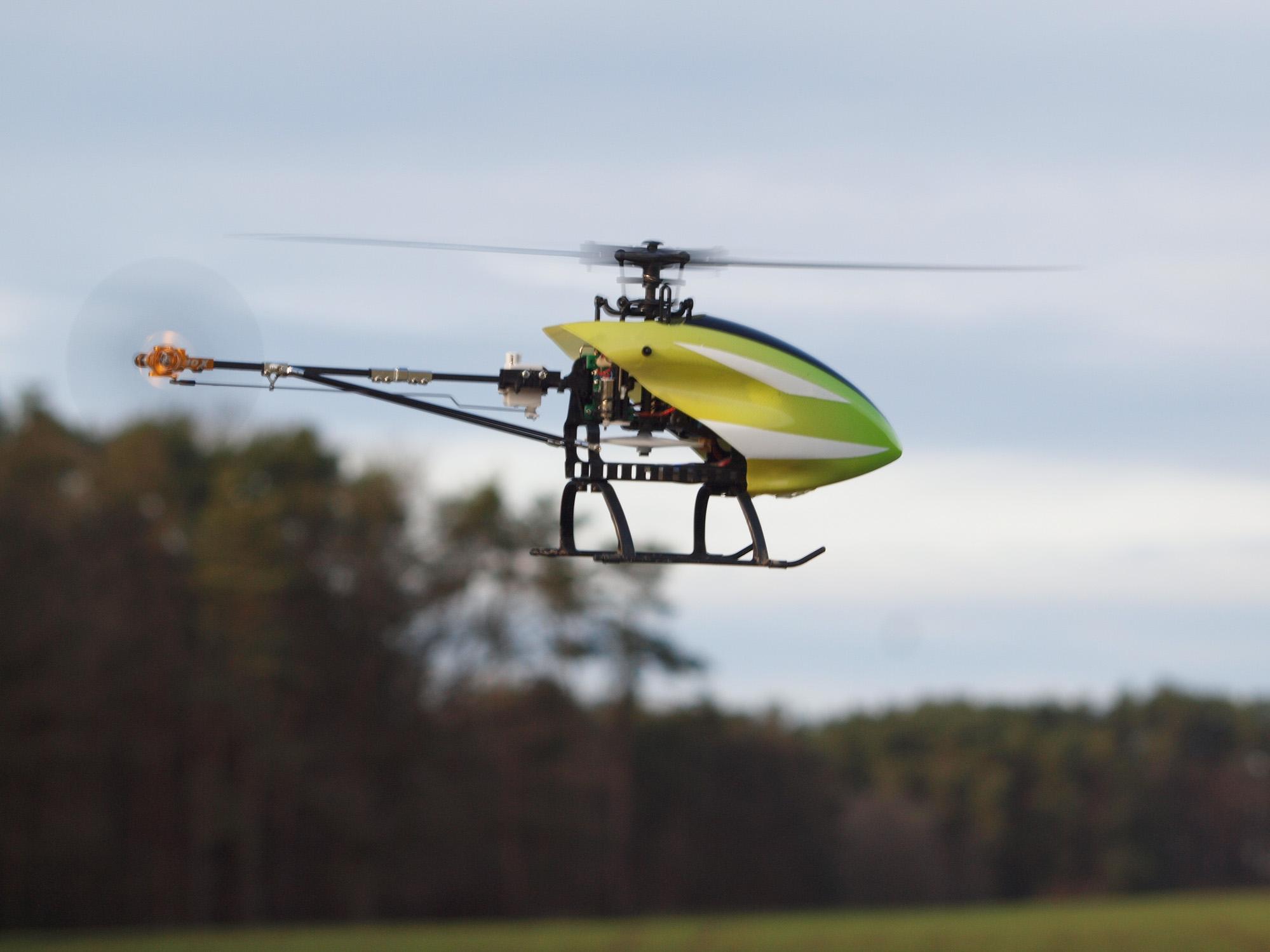 Hubschrauber-Testflug